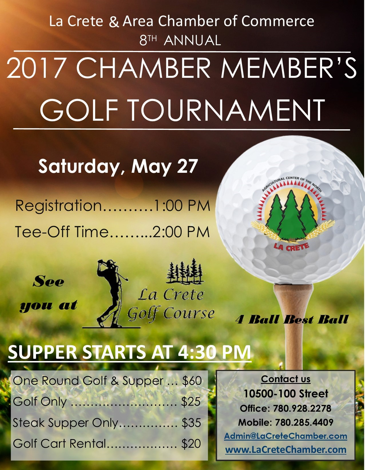 8th Annual Chamber Member's Golf Tournament