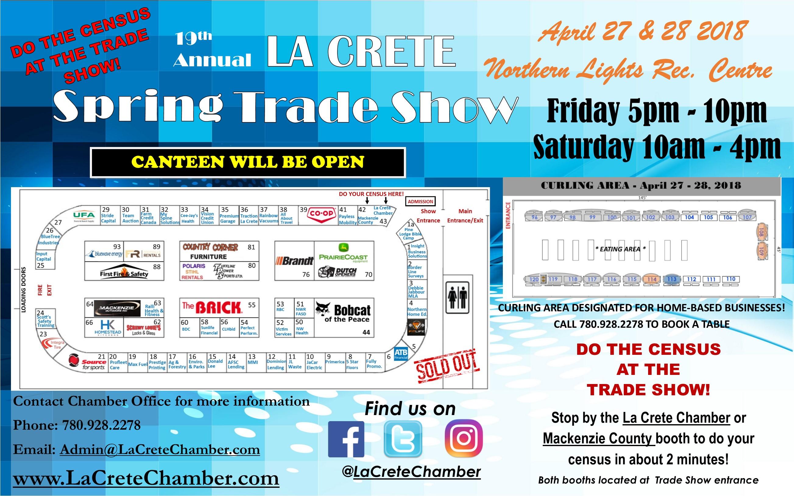 La Crete Spring Trade Show Poster 2018 Updated