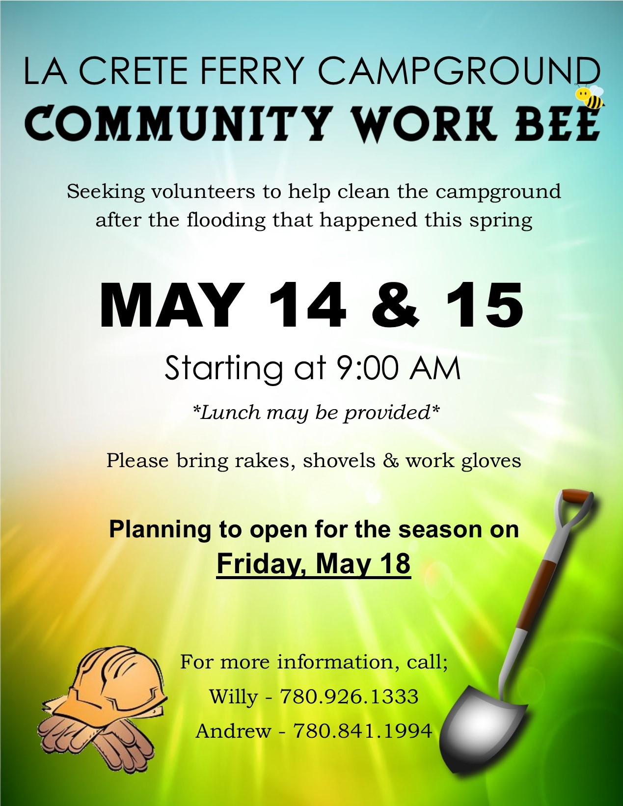La Crete Ferry Campground Community Work Bee 2018