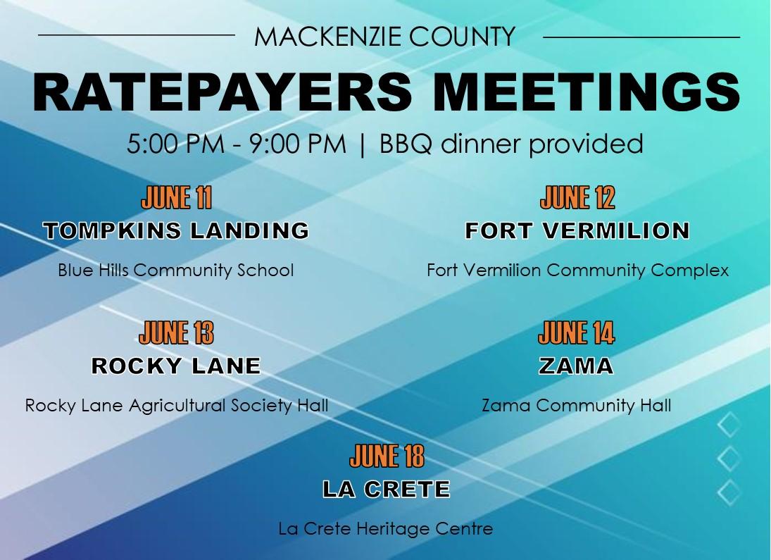 Ratepayers Meetings 2018