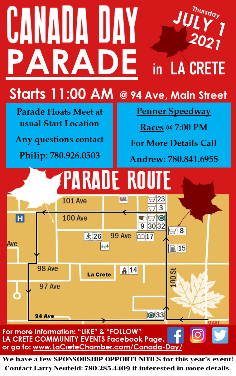2021 Canada Day Parade Poster