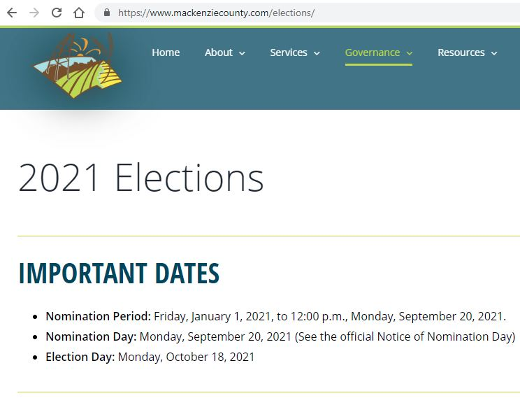 Municipal Elections-Oct.18, 2021